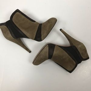 BCBGeneration Brown Suede Booties - Worn Once